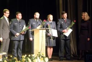 Pasveikinti policijos pareigūnai