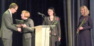 Lietuvos Respublikos Seimo pirmininkės vardu padėkomis apdovanotos pedagogės