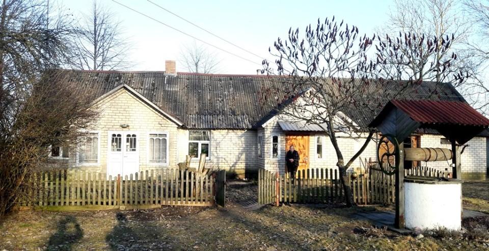 K. Veikšos statytame name gyvena marti Irena ir anūkas Rimantas su šeima