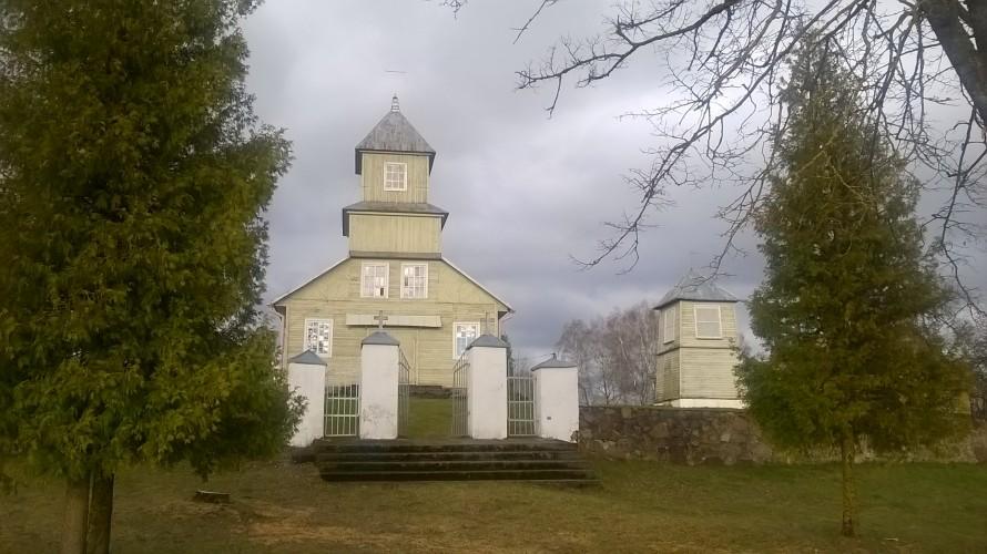 Senoji Kiauklių bažnyčia, dabar stovinti Pusnėje