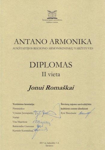 Antano armonika diplomas