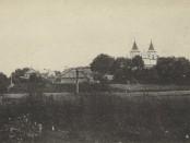 Vaizdas į miestelio bažnyčią, 1917 m.