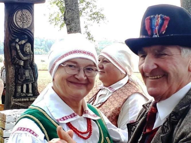 Gojaus dalyviai Stase Pivariuvienė Ir Jonas Romaška