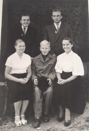Antanas Juščius jauniausias penktasis vaikas šeimoje
