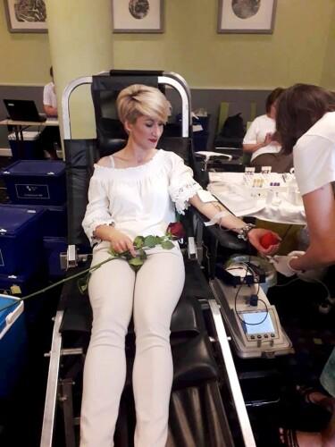 Ieva Pumputienė dvidešimtąjį kartą kraujo donorė