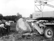 Atminimo akmens statymas prie Rimučių viaduko