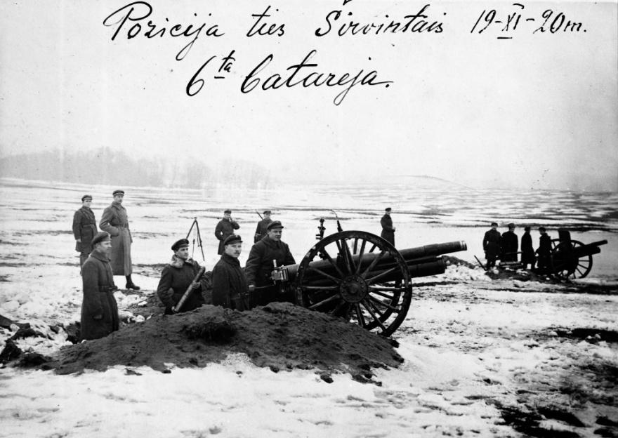 6-os baterijos pozicija ties Sirvintomis 1920-11-19
