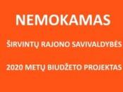 Nemokamas Širvintų rajono savivaldybės 2020 metų biudžetas