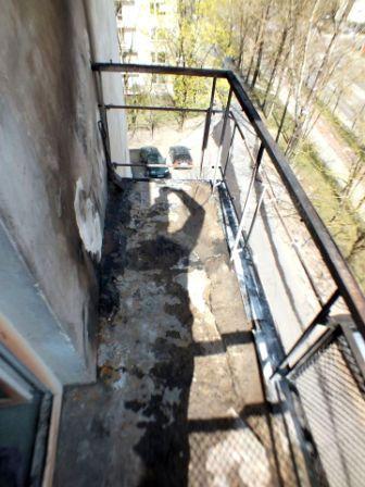 Apdegęs balkonas