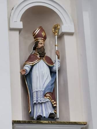 """Skulptūra """"Vyskupas šv. Augustinas"""""""