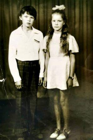 Rūta su broliu